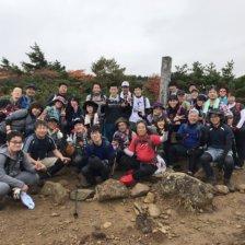 安達太良山 登山中の記念撮影